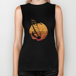 Wind Surfing Water Sports Sailing Water Activity Sailboarding Wind Surfers Gifts Biker Tank