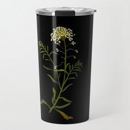 Iberis Amara Mary Delany Vintage Paper Flower Collage Floral Botanical Art Travel Mug