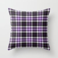 Purple Plaid Throw Pillow
