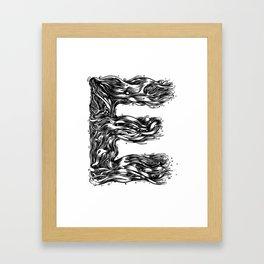 The Illustrated E Framed Art Print