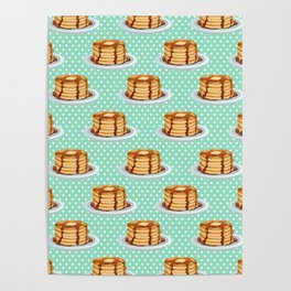 Pancakes & Dots Pattern Poster