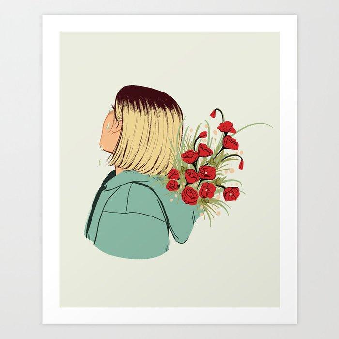 Flower Boy 02 Art Print