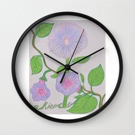Flor De Fantasias Aster, Forget Me Not Wall Clock