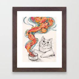 Wishes for Fishes Framed Art Print