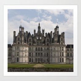 French castle, Chambord, Loire valley Art Print