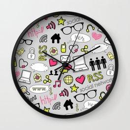 Computers and Social Media Wall Clock