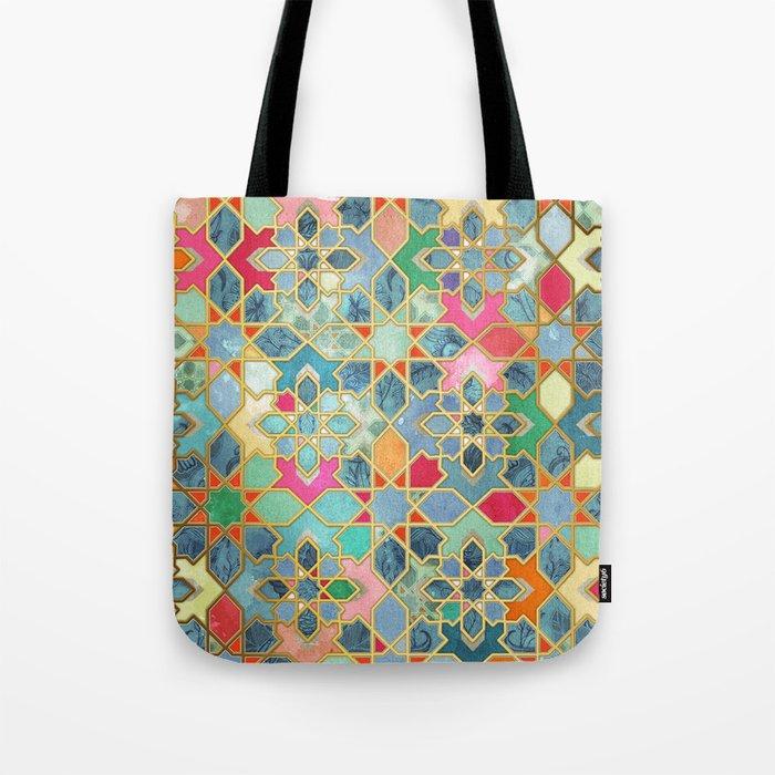 Gilt & Glory - Colorful Moroccan Mosaic Umhängetasche