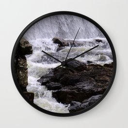 Lowell Tannery Hydro Dam Spring Rush Wall Clock