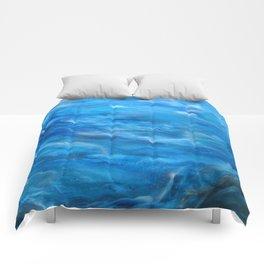 O' deep blue sea water painting Comforters