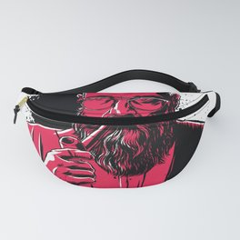 Old man smoking a pipe Fanny Pack