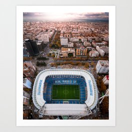 Santiago Bernabéu Stadium - Madrid, Spain Art Print
