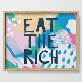 Eat The Rich Serving Tray