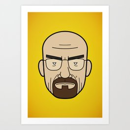 Faces of Breaking Bad: Walter White Art Print