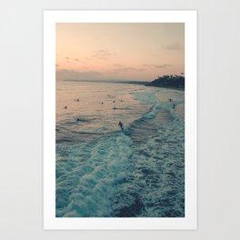 Surfin' day Art Print