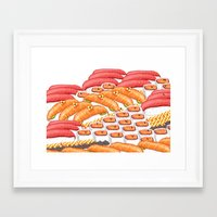 sushi Framed Art Prints featuring Sushi !! by Bartone