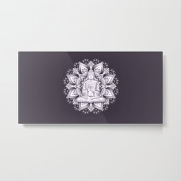 Black Mandala Metal Print