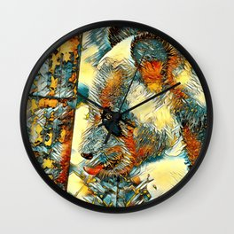 AnimalArt_Panda_20170702_by_JAMColorsSpecial Wall Clock