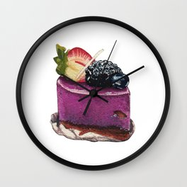 Blueberry Mousse Wall Clock
