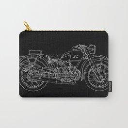 MOTO GUZZI AIRONE 250, 1939 Original Handmade Sketch, white line on black background Carry-All Pouch