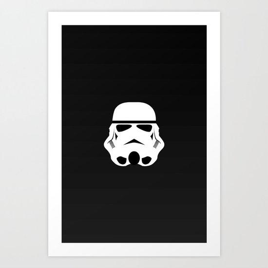 Minimal Stormtrooper Art Print