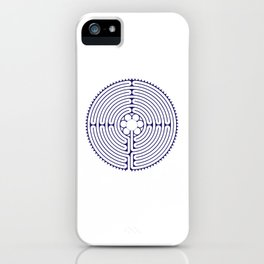 Cathedral of Our Lady of Chartres Labyrinth - Blue iPhone Case