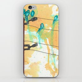 Birds on the Line iPhone Skin