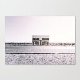 PradaMarfa - Black and White Version Canvas Print