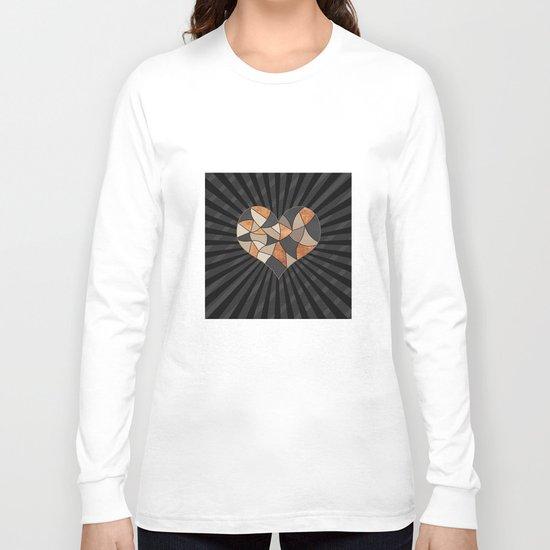 Heart . Patchwork . Long Sleeve T-shirt