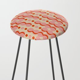 Uende Love - Geometric and bold retro shapes Counter Stool
