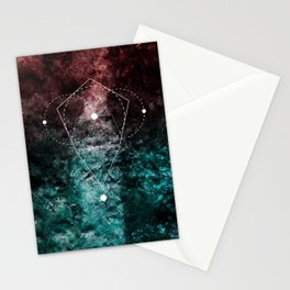 Rhombus Moon Texture Geometry Stationery Cards