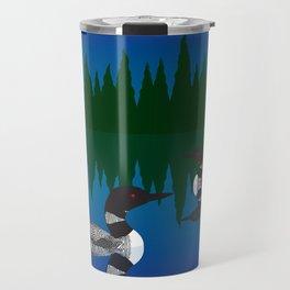 Loons in a Woodland Lake Travel Mug