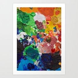 Palette of Colors Art Print