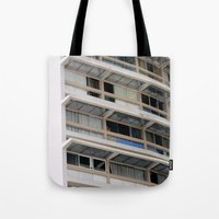 building Tote Bags featuring Building by anacaprini