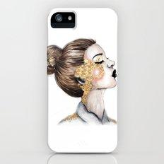 Gold Cheeks // Fashion Illustration iPhone (5, 5s) Slim Case