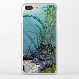 Pink cube travel #1 Findings under the sea Clear iPhone Case