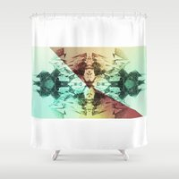 alchemy Shower Curtains featuring Alchemy Experiment 8 by garciarts