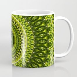 Mossy Light Green Mandala Coffee Mug