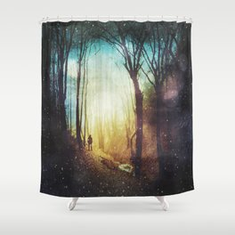 the magic of quiet places - enchanted forest Shower Curtain