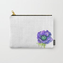 Blue Floral Elements Carry-All Pouch