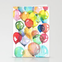 balloons Stationery Cards featuring balloons by Katja Main