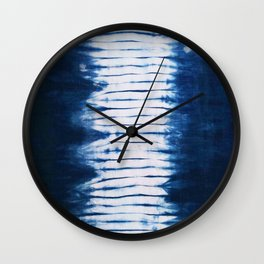 -A22- Indigo Traditional Original Arteresting Artwork. Wall Clock