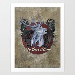 My Deer Friend / Version 2 Art Print
