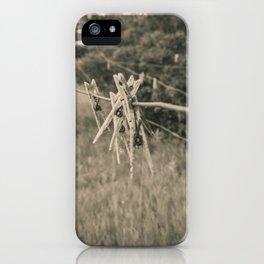 Clothespins on the Line, North Dakota 2 iPhone Case