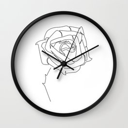 Rose Up Wall Clock
