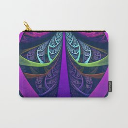 An UltraViolet Black Light Rainbow of Glass Shards Carry-All Pouch