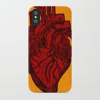 anatomical heart iPhone & iPod Cases featuring Anatomical Love by Orange Blood Gallery