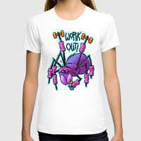 workout T-shirts featuring Workout Spider by Artistic Dyslexia