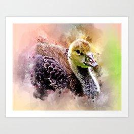 Cute Gosling Art Print
