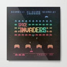Invader Space Metal Print