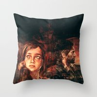 road Throw Pillows featuring The Road Less Traveled by Alice X. Zhang